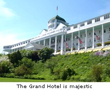The Grand Hotel is majestic