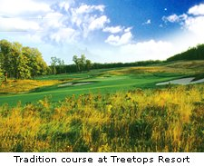 Tradition course at Treetops Resort